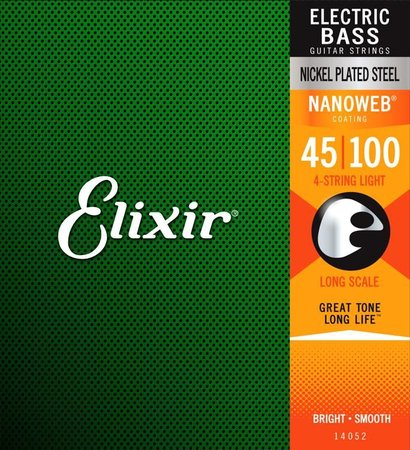 Image for Elixir 14052 / 045 - 100 NANOWEB Electric Bass Strings