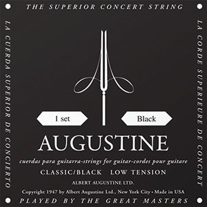 Image for Albert Augustine Classic Black String Set Low Tension