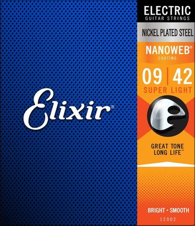 Image for Elixir 12002 / 009 - 042 NANOWEB Electric Guitar Strings