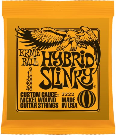 Image for Ernie Ball 2222 Nickel Hybrid Slinky Electric Guitar Strings