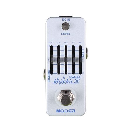 Mooer Pedal Graphic B, 5 Band Analog BASS Equalizer @ Nuansa