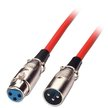 Lindy 10m XLR Cable - Male to Female, Red
