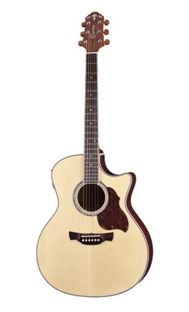 Image for Crafter GAE 8/N (W/SB-DG) Acoustic Electric Guitar