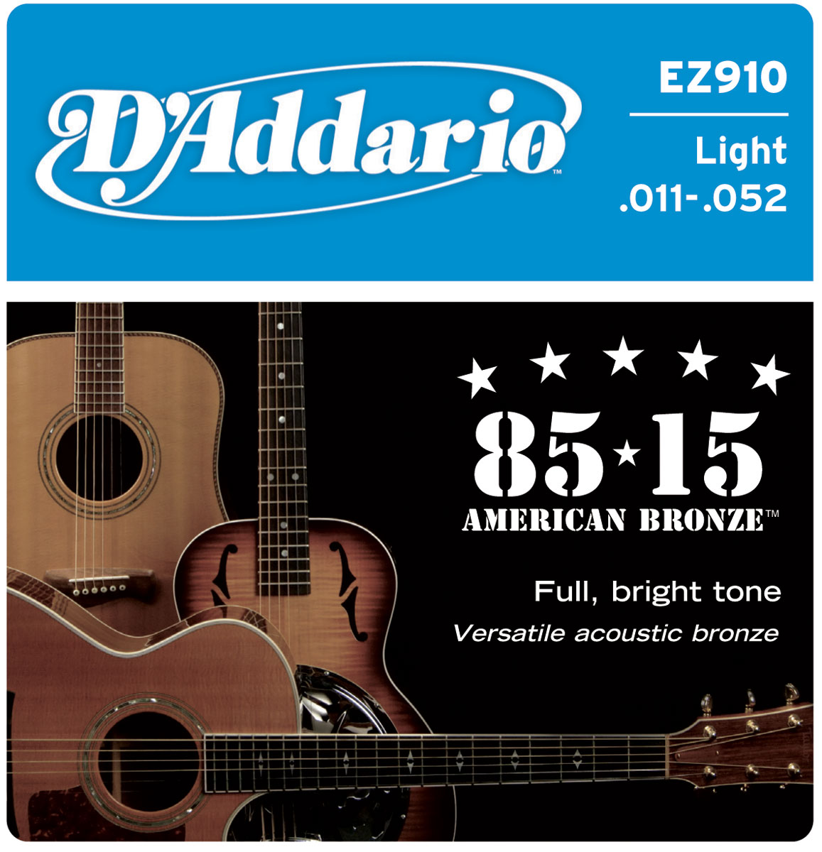 Addario EZ 910 Acoustic Guitar Strings @ Nuansa Musik