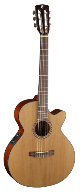 cort cec 5 nylon natural acoustic guitar nuansa musik. Black Bedroom Furniture Sets. Home Design Ideas